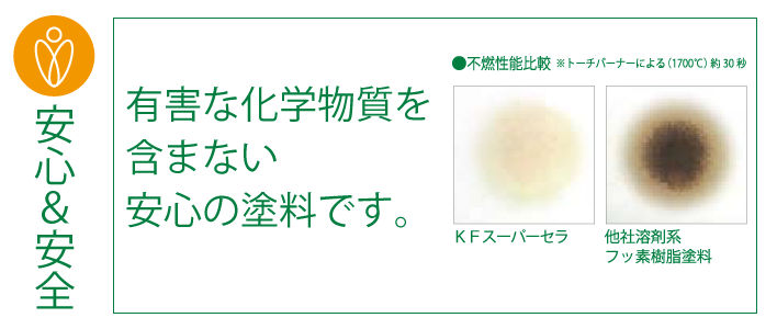 有害な化学物質を含まない安心の塗料